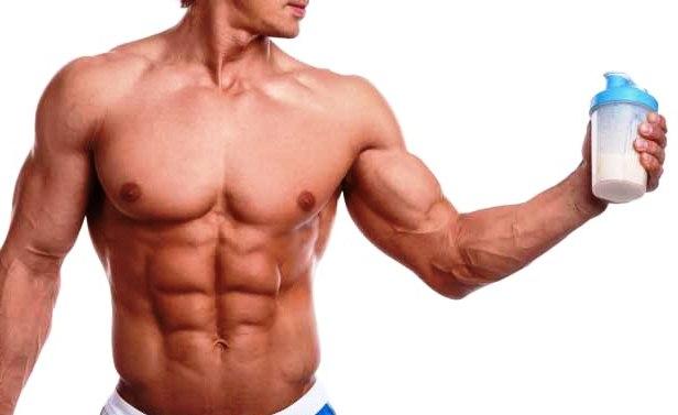 спортпит бодибилдинг культуризм со стаканом протеина