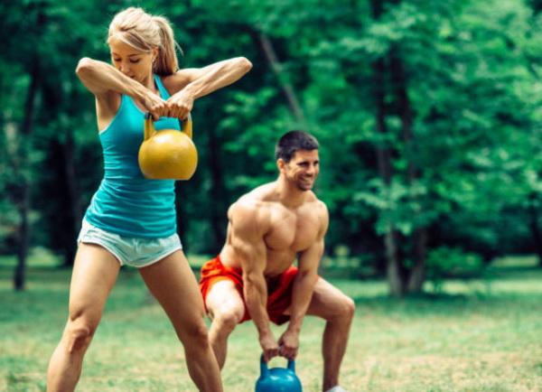 рывок гири какие мышцы работают